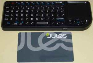 USB wireless mini keyboard and mouse pad