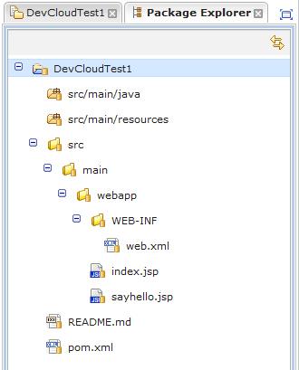 Default web application directories