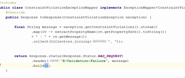 Java EE JAX-RS How to handle bean validation failures